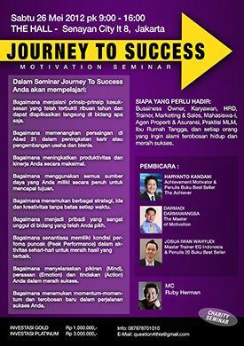 Seminar Motivasi - Journey to Success (Charity Event)